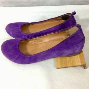 J. Crew suede leather CeCe flats purple size 6.5